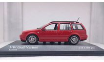 Volkswagen Golf IV Variant Laser Red 1997, редкая масштабная модель, Minichamps, scale43