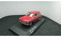 Volkswagen 1600 Variant 1966 granadarot, редкая масштабная модель, Minichamps, scale43