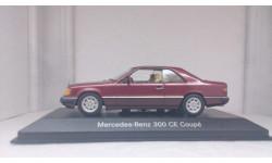 С 1 рубля! Без резервной цены! Mercedes-Benz 300 CE-24 Coupe C 124 1990, Almandinred metallic, редкая масштабная модель, Minichamps, 1:43, 1/43