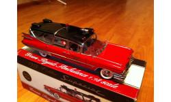 Cadillac Superrior 1959 Crown Royale Ambulance, редкая масштабная модель, Sunset Coach, scale18