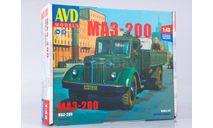 Сборная модель МАЗ-200 бортовой, сборная модель автомобиля, AVD Models, scale43