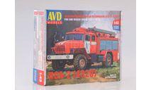 Сборная модель Пожарно-спасательный автомобиль ПСА-2 (4320), сборная модель автомобиля, УРАЛ, AVD Models, scale43