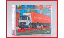 Сборная модель МАЗ-5432 с полуприцепом-контейнеровозом МАЗ-938920, сборная модель автомобиля, AVD Models, 1:43, 1/43