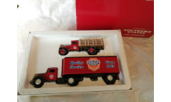 CHEVROLET TRUCK 1930 + FORD TRUCK WITH TRAILER 1937 ERTL