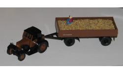 Трактор с бабкой 1/87 BREKINA