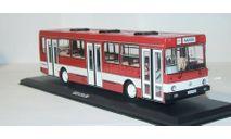 Лиаз-5256 красный с белой полосой. ClassicBus., масштабная модель, scale43