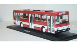 Лиаз-5256 красный с белой полосой. ClassicBus., масштабная модель, 1:43, 1/43