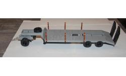 П/прицеп тяжеловоз с подкатной тележкой.Лебедь., масштабная модель, Студия Лебедь., scale43