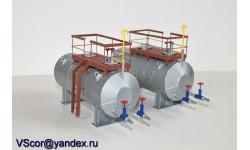 Резервуар горизонтальный стальной РГС-25 1:43