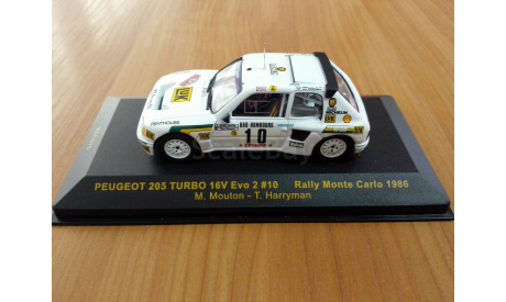 Peugeot 205 Turbo 16v Evo 2 Michelle Mouton Rally monte-carlo 1986 ixo rac075, масштабная модель, IXO Rally (серии RAC, RAM), scale43