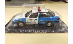 Полицейские машины мира №71 Daewoo Espero S Полиция Южной Кореи 1/43