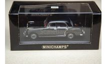 1/43 Mercedes-Benz 220 S Ponton Minichamps Black, масштабная модель, scale43