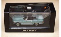 1/43 Mercedes-Benz 350 SL R107 Minichamps Blue, масштабная модель, scale43
