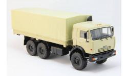 КамАЗ-43118 6x6 бортовой с тентом (песочный), масштабная модель, ПАО КАМАЗ, 1:43, 1/43