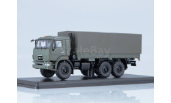 КамАЗ-43118 бортовой с тентом (хаки), масштабная модель, Start Scale Models (SSM), 1:43, 1/43