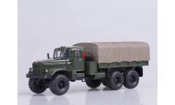 КрАЗ-255Б1 бортовой с тентом (1969-1979), зеленый, масштабная модель, Наш Автопром, 1:43, 1/43