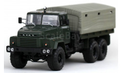 КРАЗ 260 бортовой с тентом (1979), зеленый матовый / св.зеленый тент, масштабная модель, Наш Автопром, scale43