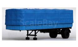МАЗ-93801/2 полуприцеп с тентом, синий, масштабная модель, Наш Автопром, 1:43, 1/43