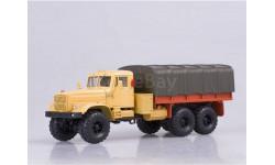 КрАЗ-255Б1 бортовой с тентом (1969-1979), оранжевый, масштабная модель, Наш Автопром, 1:43, 1/43