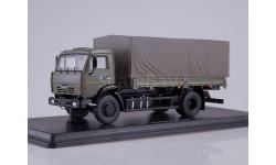 КамАЗ-43253 бортовой с тентом (хаки)
