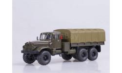 КрАЗ 255Б бортовой с тентом (1967-1969), зеленый, масштабная модель, Наш Автопром, 1:43, 1/43