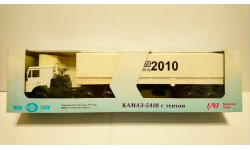 КамАЗ 5410 тягач с п/п (белый) 'RC-Forum 2010' Лимитированное издание 150 шт., масштабная модель, Элекон, 1:43, 1/43
