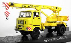 IFA W50L Adk 70 (крановая установка на шасси W50L) (модель+буклет), журнальная серия масштабных моделей, Atlas, 1:43, 1/43