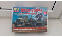 КрАЗ 258 Б1 с п/п ЧМЗАП 5523, сборная модель автомобиля, AVD models, scale0