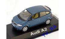 + Audi A2 blue Minichamps Yu_Ra, масштабная модель, 1:43, 1/43