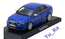 + Audi RS 4 blue Minichamps Yu_Ra, масштабная модель, Opel, 1:43, 1/43