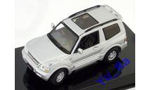+ Mitsubishi Pajero 1999 SWB 2drs silver AutoArt Yu_Ra, масштабная модель, scale43