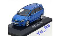 + Opel Zafira OPC blue Minichamps Yu_Ra, масштабная модель, scale43