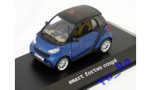 + Smart fortwo coupe blue Minichamps Yu_Ra, масштабная модель, scale43