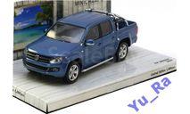 + VW Amarok Pick Up 2009 bluemetallic Minichamps Yu_Ra, масштабная модель, Volkswagen, 1:43, 1/43