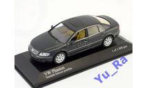 + VW Phaeton 2002 black metallic Minichamps Yu_Ra, масштабная модель, scale43, Volkswagen
