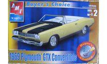 1969 Plymouth GTX Convertible  AMT 1:25, сборная модель автомобиля, scale24
