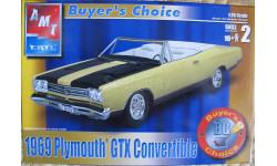 1969 Plymouth GTX Convertible  AMT 1:25, сборная модель автомобиля, 1:24, 1/24
