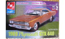 1969 Plymouth  GTX 440  M 1:25, сборная модель автомобиля, AMT, 1:24, 1/24