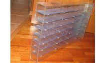 Стеллаж- витрина на 52 модели 1/43, боксы, коробки, стеллажи для моделей, Моделстрой