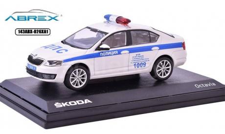Škoda Octavia III 1:43 Российская полиция ДПС Крыма Abrex Шкода Октавия, масштабная модель, 1/43