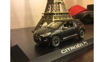 CITROEN DS 3 Matt black, масштабная модель, 1:43, 1/43, Norev, Citroën