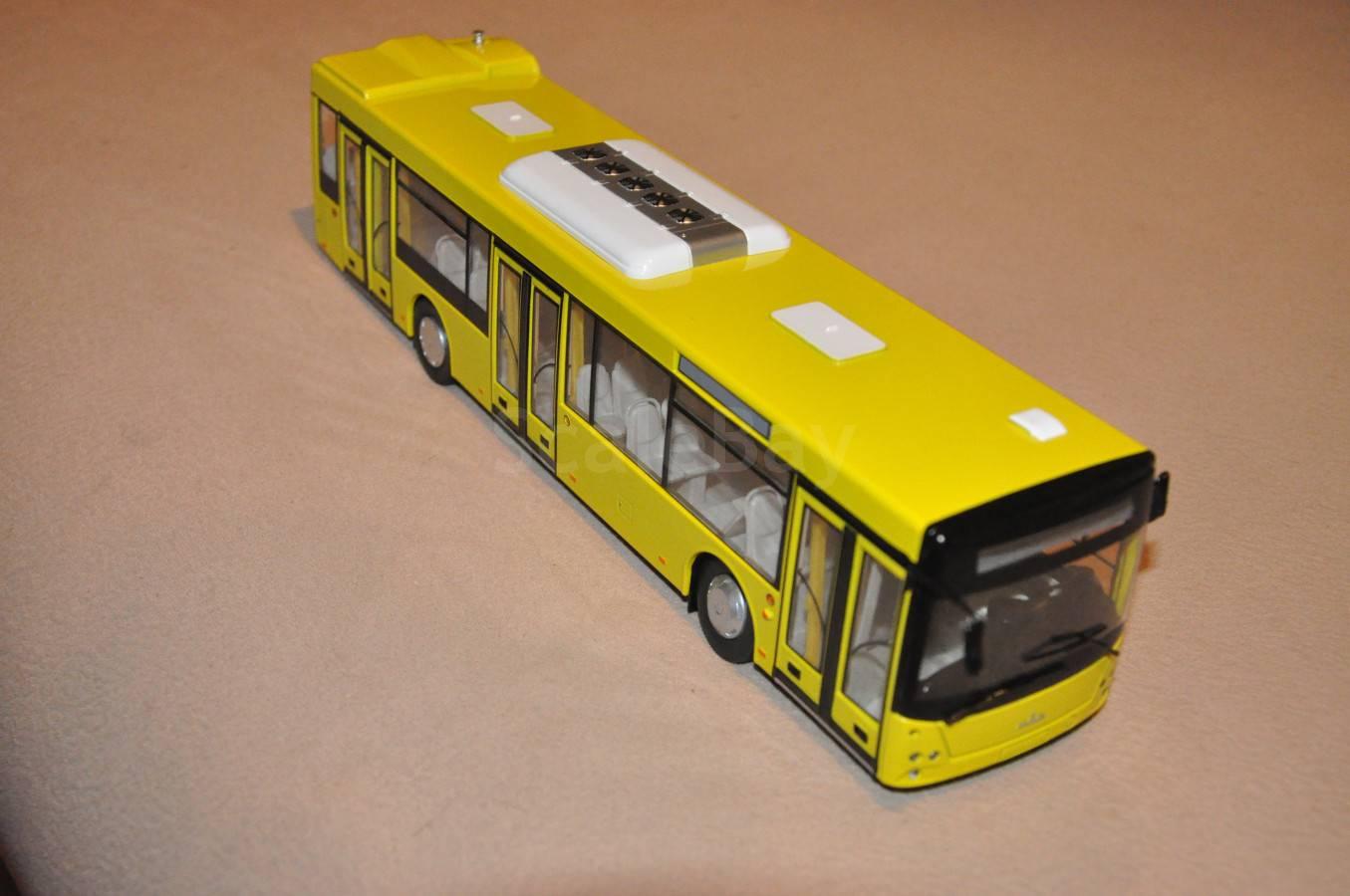 АИСТ. Городской автобус МАЗ-203 (жёлтый)   Аукцион масштабных и сборных моделей