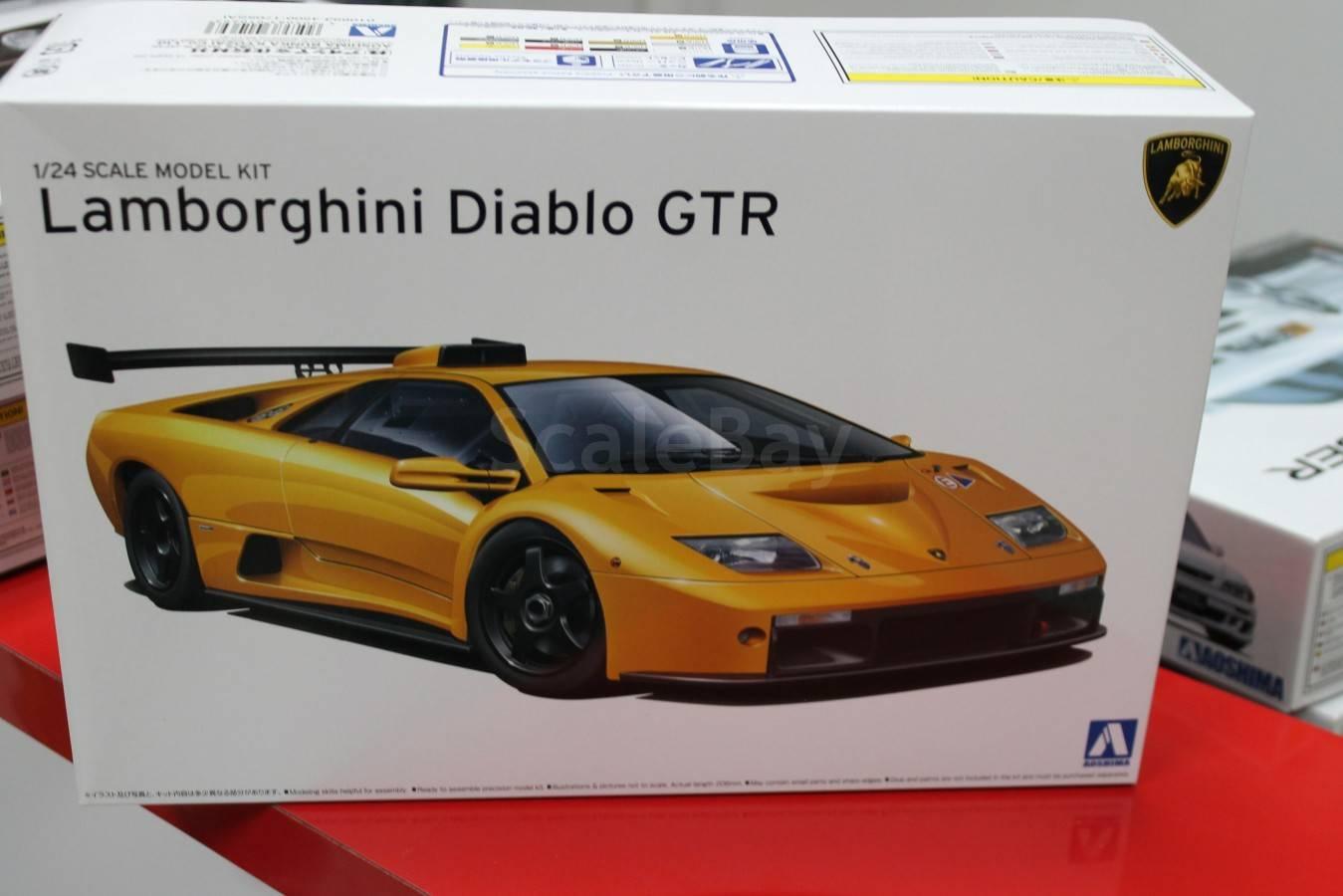 сборные модели автомобилей aoshima ламборджини