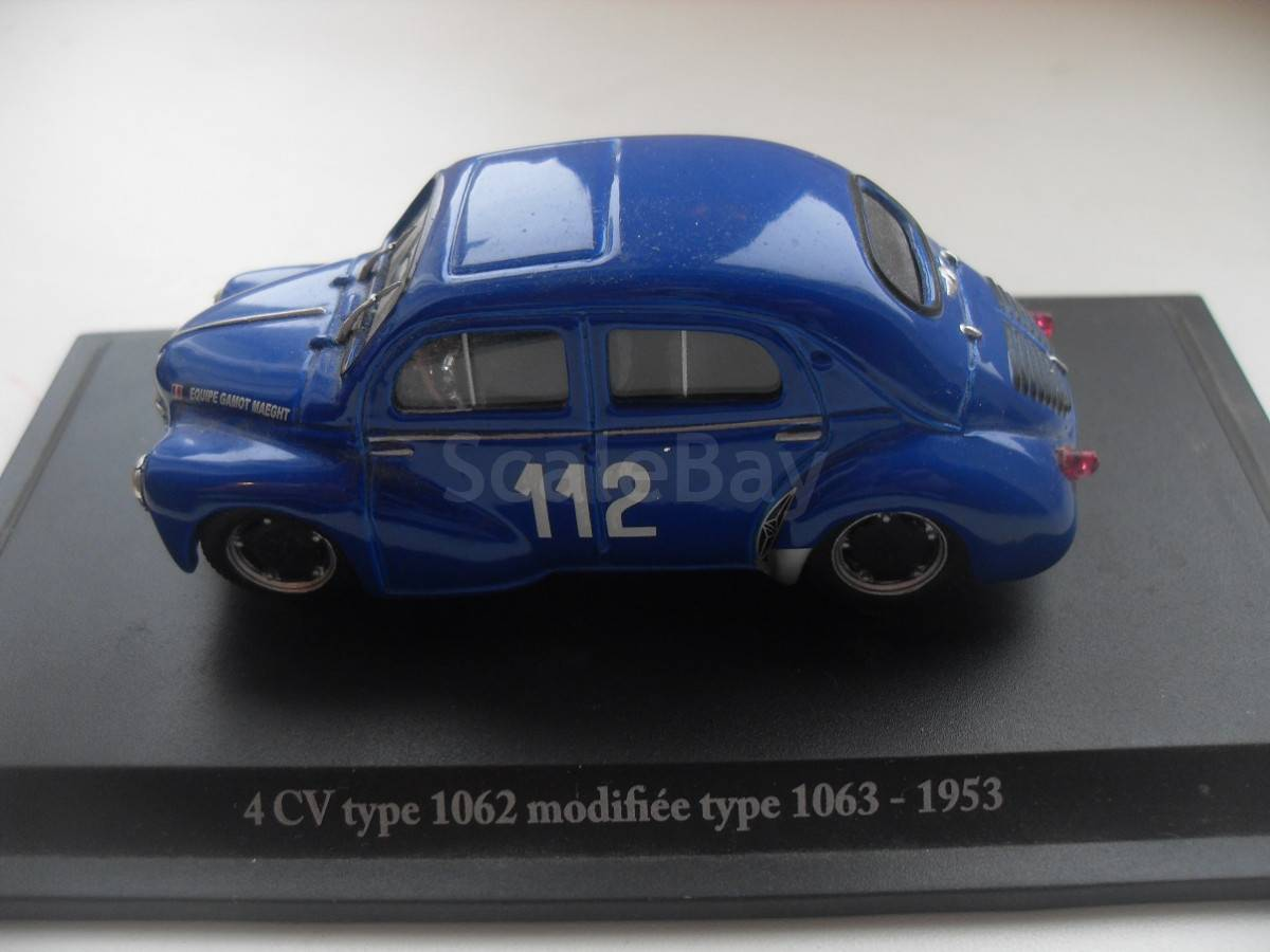 Renault 4CV type 1062 modifiée type 1063 1953 eligor 1//43