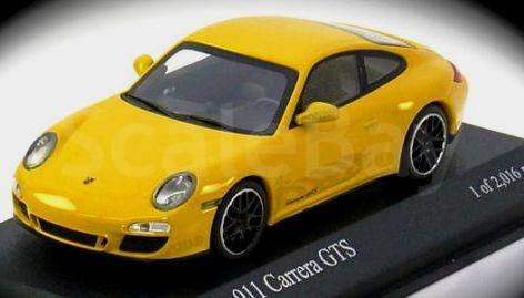 porsche carrera 2007 желтый масштабная модель