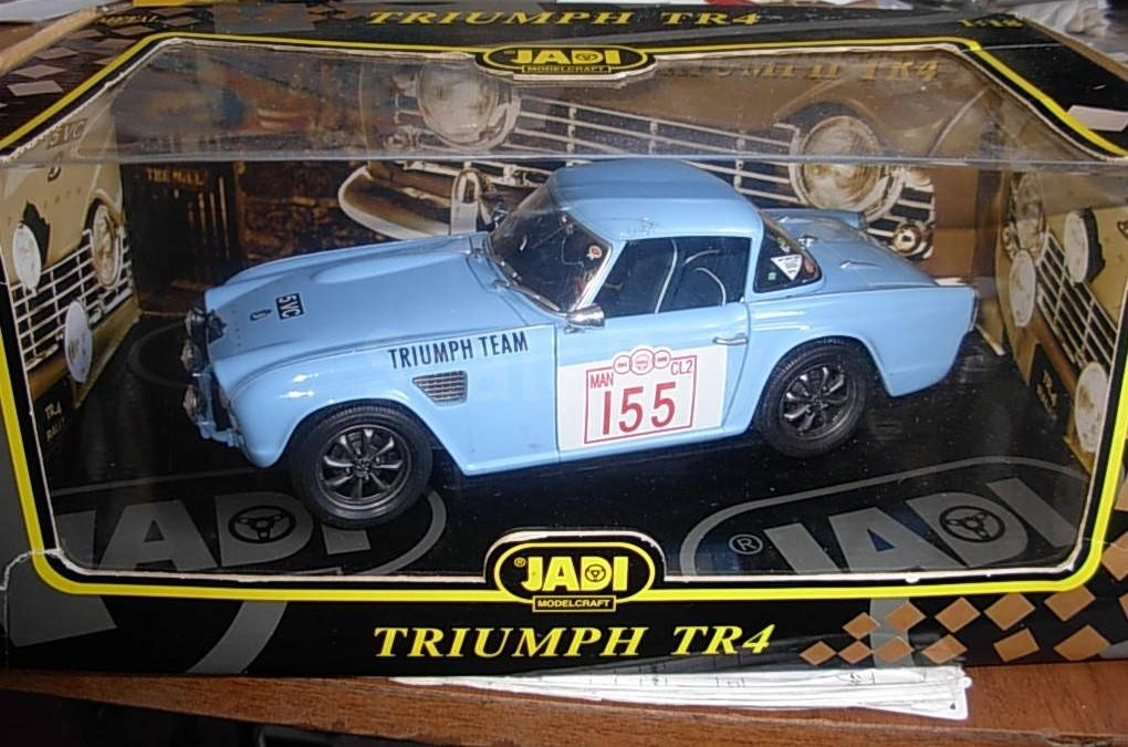 модель 118 Triumph Tr4 Rally 155 Jadi металл 118 аукцион