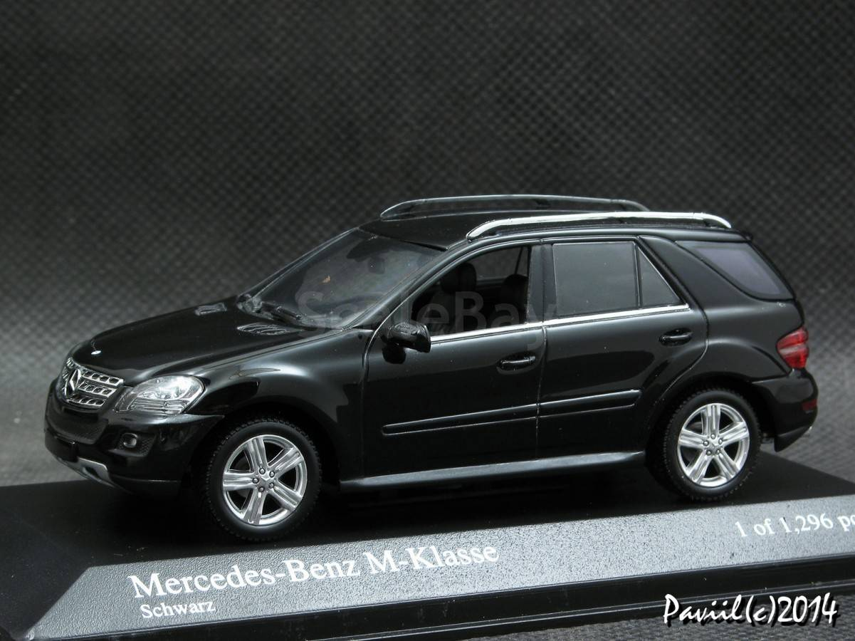 mercedes m klasse facelift 2008 black 4x4 1 43 minichamps. Black Bedroom Furniture Sets. Home Design Ideas
