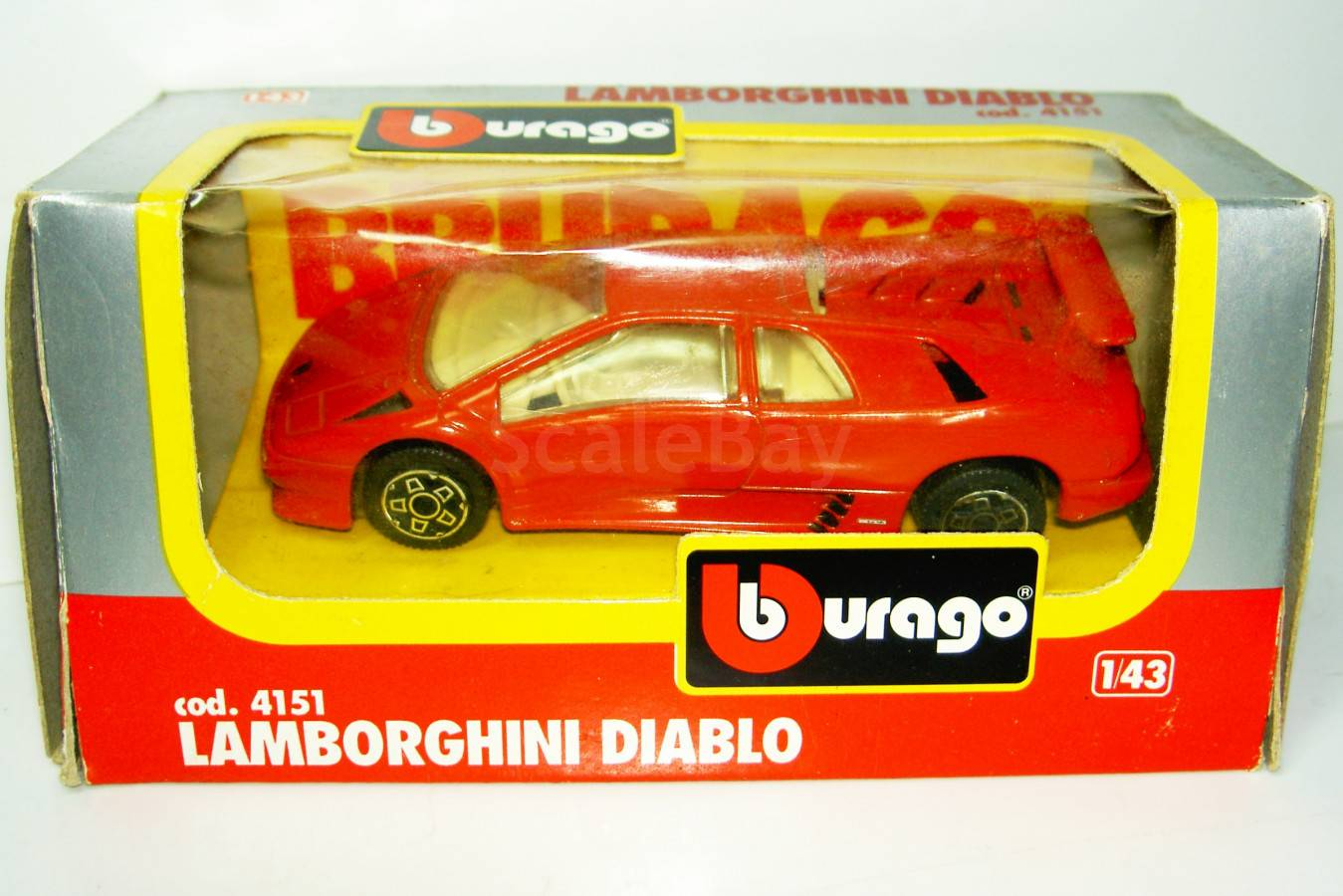 1 43 Lamborghini Diablo Bburago Aukcion Masshtabnyh I Sbornyh Modelej