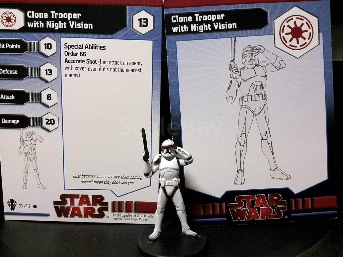 Star Wars Miniature Galaxy at War 22//40 Clone Trooper Night Vision C