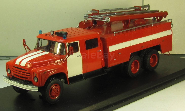 ЗИЛ 133 АЦ-40 пожарная номер 4, масштабная модель